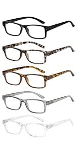 5 pack reading glasses