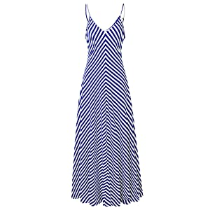 Tank Top V Neck A Line French Style Floor Length Dress