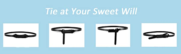 women skinny belt for dress tie waist s m l xl 2x 2x 3x plus size