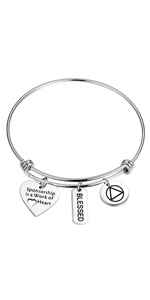 Sponsor Gift Sponsor Bracelet Recovery AA Gift Sponsorship is a Work of Heart Bangle Sobriety