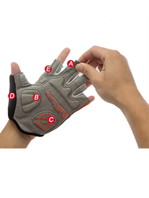 cycling shockproof half finger short gloves bike gloves cycling gloves