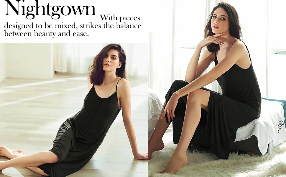 Women sleeveless nightgown