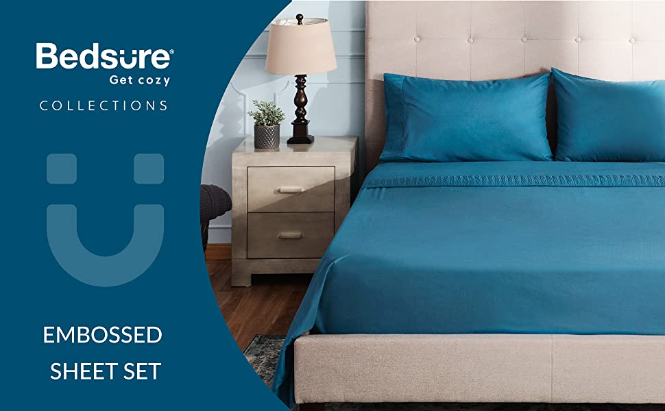 Ruffled Embossed Bed Sheet Set