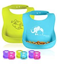 silicone baby bibs waterproof toddler feeding easy clean BPA Freedish