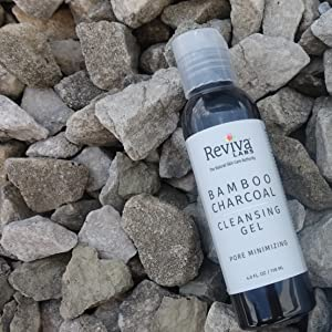 reviva labs bamoboo charcoal cleansing gel all skin types deep clean pore minimizing natural