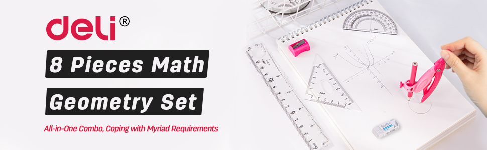 8 Pieces Math Geometry Set
