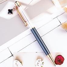 gray crystal empty tube floating pen
