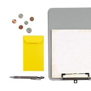 yellow #6 coin envelope