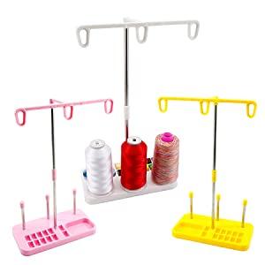 plastic thread holder support