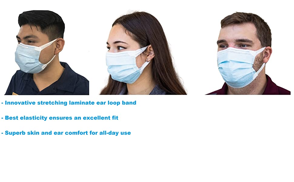 face mask with comfort earloop