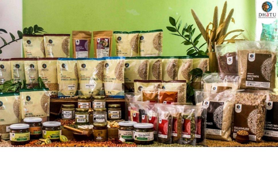 dhatu Organics millets butter flours grocery