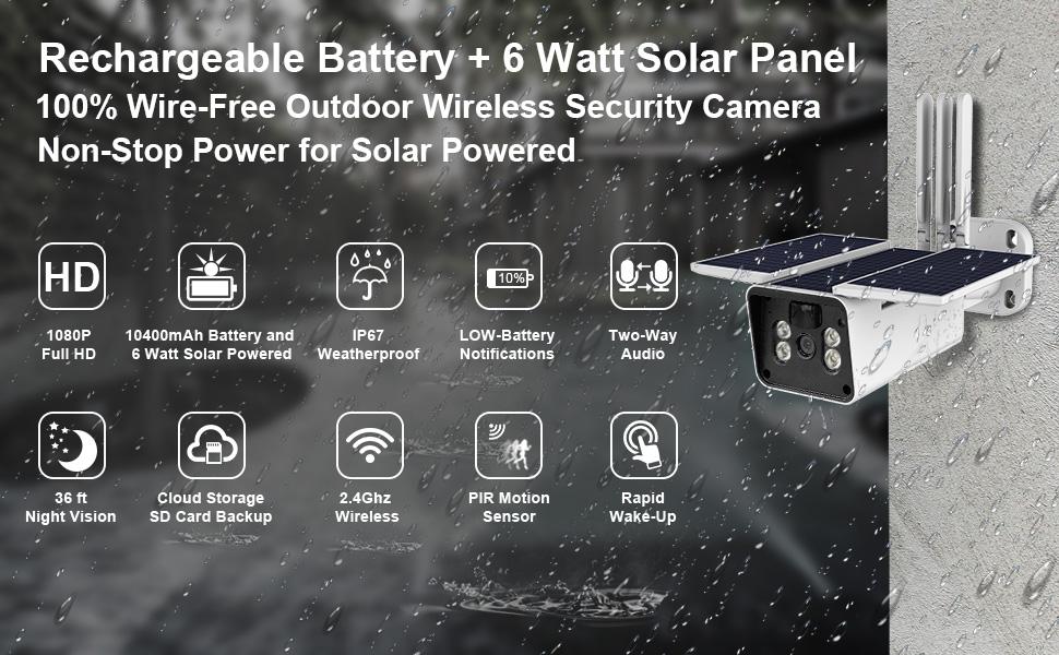 solar camera,solar security camera,outdoor security camera,surveillance camera with solar panel