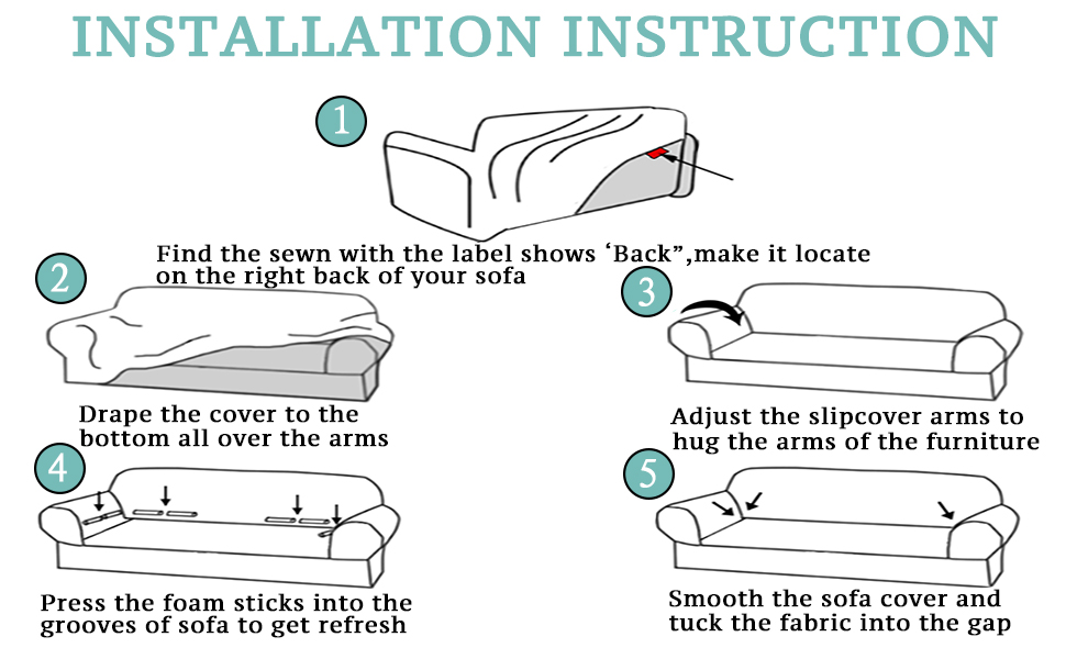 how to install sofa cover