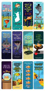 Funny Fish Puns Laughter Bookmarks