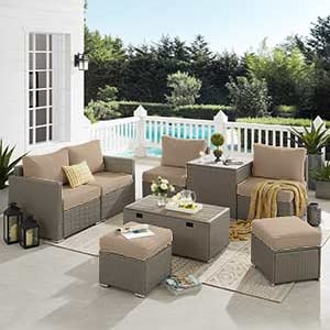 Outdoor Patio Furniture Sets, Garden Conversation Wicker Sofa Set, and Patio Sectional Furniture
