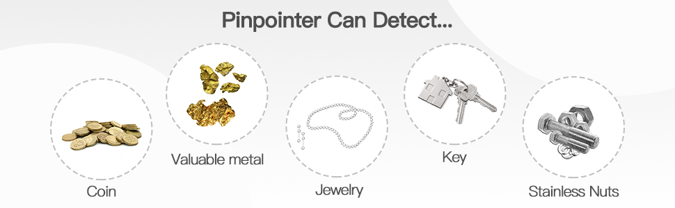 what can metal detector detect silver gold keys ring iron