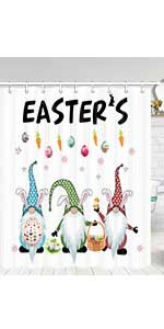 easter gnome shower curtain
