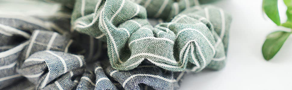 stripe travel srunchie scrunchie scraf scarffor hair bownot ties ponyscarf ponytail for adults set
