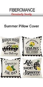 Buffalo Plaid Lemon Pillow Covers
