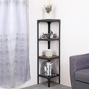 small 4 tier storage shelf metal for bedroom