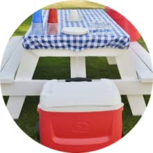 picnice cooler table cloth park outdoor hike camp