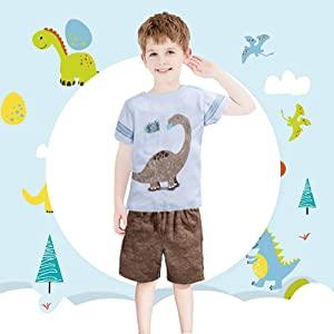 dinosaur short set boys clothes