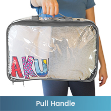 Large clear packing cube