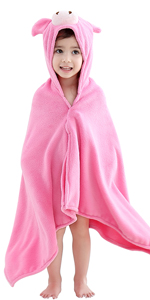 Pink Pig Bath Towel