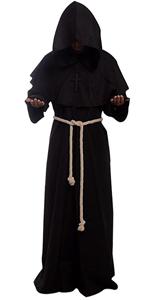 Monk Renaissance Priest Robe Costume Cosplay
