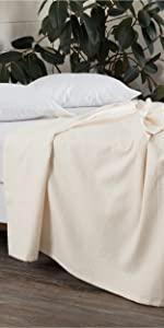 vhc brands, bedding, farmhouse, home decor, april and olive, serenity, blanket, coverlet