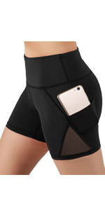 High Waist Mesh Yoga Shorts