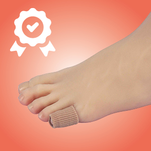 pinky toe tube gel lined fabric covered ribbed