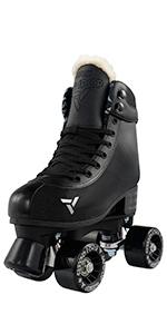 adjustable quad roller skate crazy skates adjust four 4 shoe sizes hard boot indoor outdoor kids