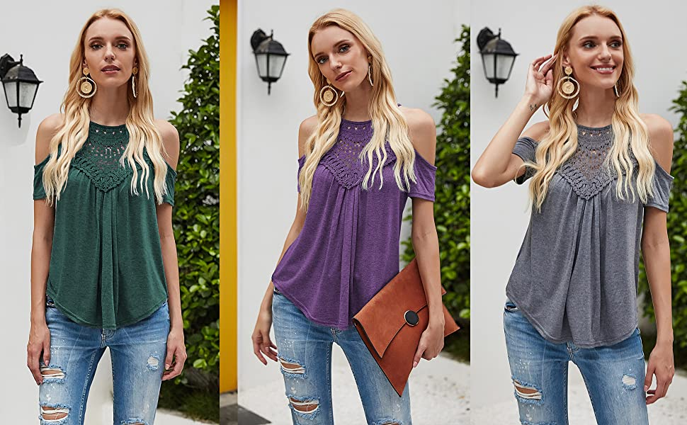 cold shoulder tops for women summer shirts cute tops for women juniors summer tops clothing