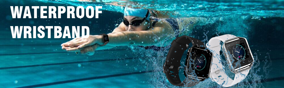 waterproof sport band compatible with fitbit blaze for men