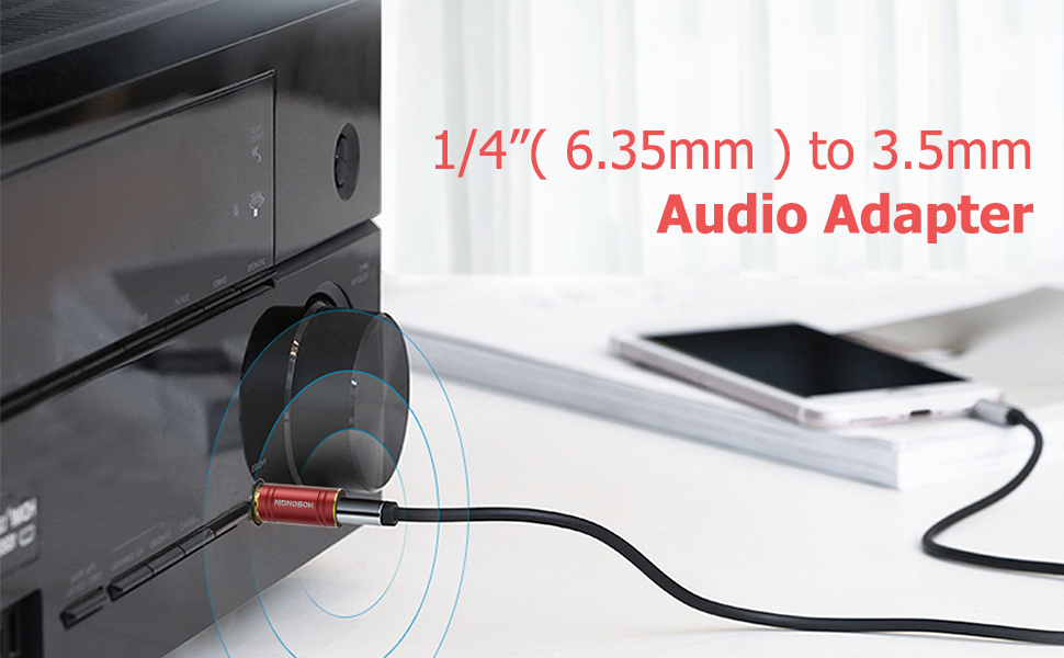 1/4 inch male to 3.5mm female audio adapter
