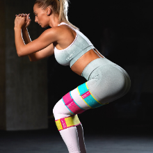 hip resistance circle glute non slip workout bands