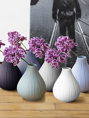 Chive - Frost Assorted Clay Matte short Flower Vases