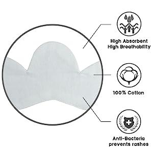 cotton bra liners for sweat rash