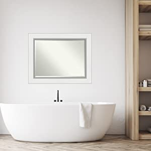 framed bathroom wall mirrors