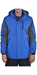 Swiss Alps Mens Insulated Waterproof Performance Winter Ski Jacket Coat