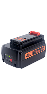 Biswaye 3.0Ah Replacement Black and Decker 40V Lithium Battery LBXR36