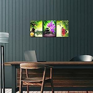 spa wall art, spa wall canvas decor, zen wall art home decor, zen pictures for living room