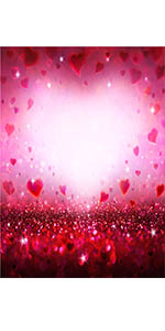 Sweet Love Heart Backdrop Baby Shower Party Decoration Photography Background