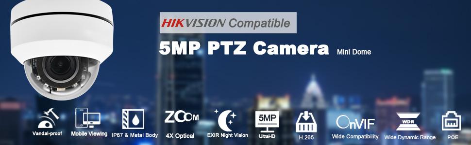 5mp ptz security ip camera