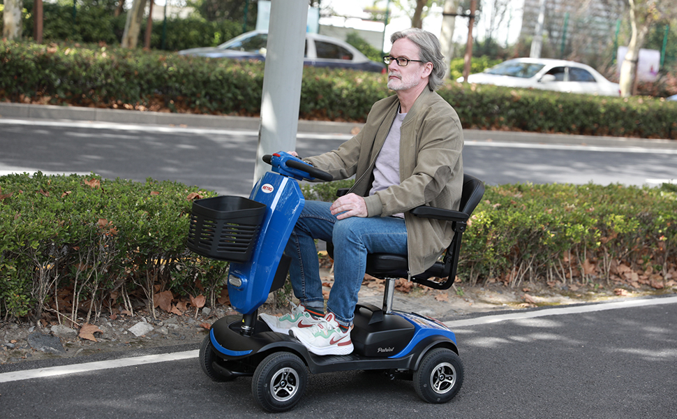 Folding 4 Wheel Mobility Scooter for Adults and Senior