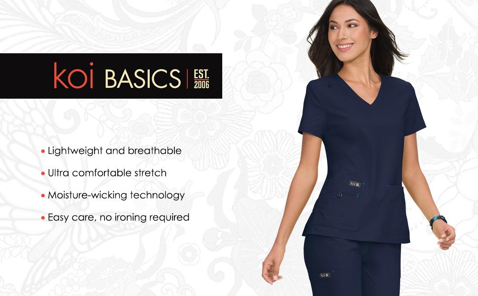 koi Basics Scrubs Medical Healthcare Uniforms Fashion