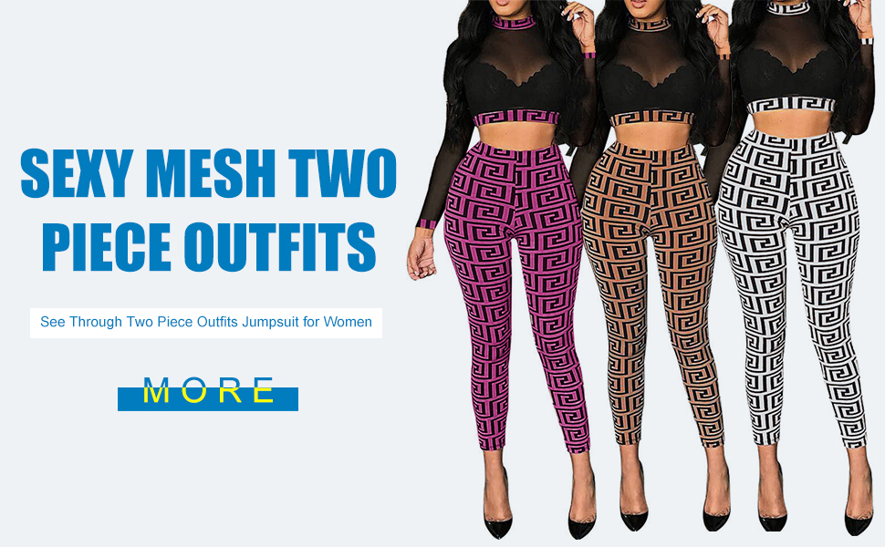 Mesh Two Piece Outfits