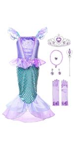 Girls Princess Mermaid Costume