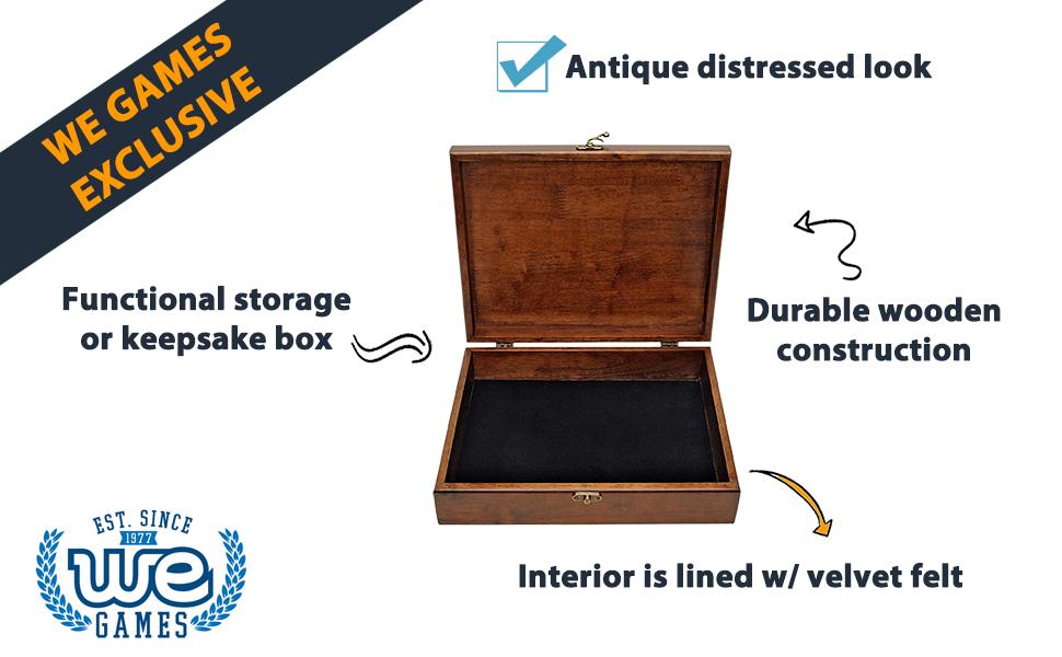 treasure box functional storage distressed look